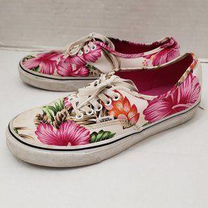 VANS Hawaii Flower Floral Aloha Tropical Shoes 9